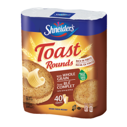 Toast Rounds - Blé Complet