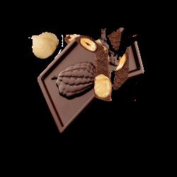 Carré Gourmand - Chunky noir & noisettes entières
