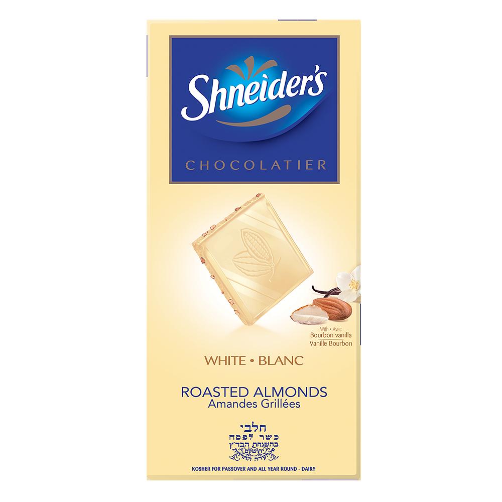 Dégustation - chocolat blanc & éclats d'amandes